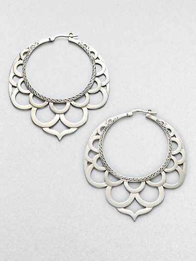 Earrings | John Hardy.   'Lace'  Sterling silver.