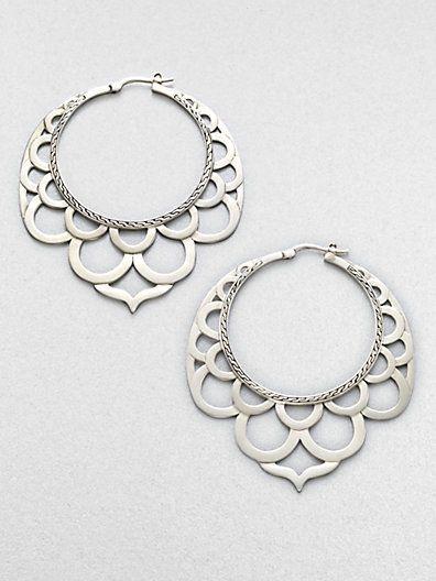 Earrings | John Hardy.   'Lace'  Sterling silver.                                                                                                                                                                                 More