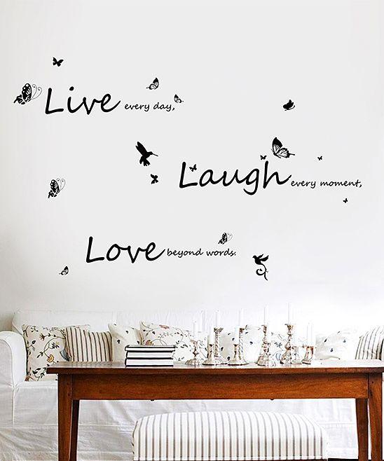 U0027Live Laugh Loveu0027 Wall Decal Set Part 97
