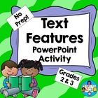 Text Features PowerPoint Activity No Prep!   Bargain Bundle Broadcast... This product is also part of the Text Features Task Cards, Mini Posters, a...
