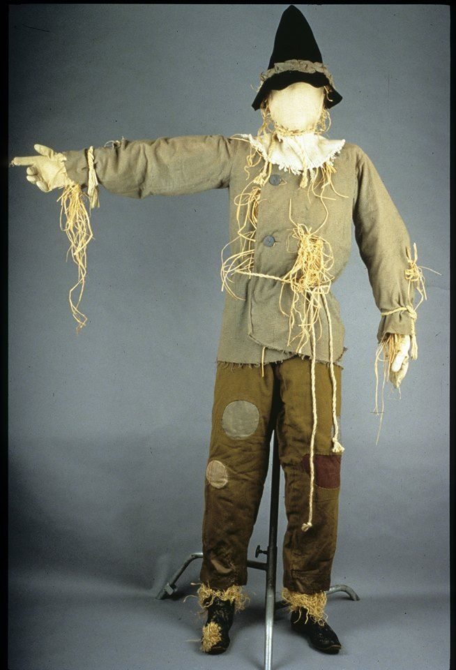 """May 15, 1856: L. Frank Baum, author of """"Wonderful Wizard of Oz"""" series, is born. Ray Bolger wore this patchwork outfit as the Scarecrow, one of the trio of friends who accompany Dorothy to the Emerald City in """"The Wizard of Oz"""" film."""