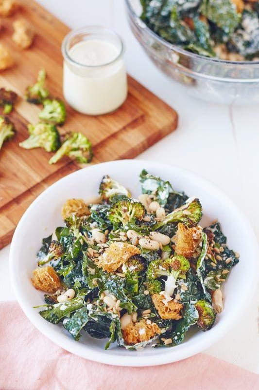 A hearty vegan Caesar salad for veggie lovers.