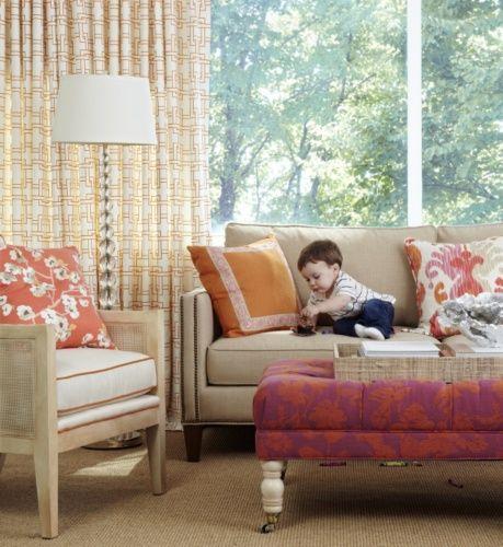 sam sofa in the crypton fabric biba parchment biscayne 44 ottoman - Crypton Sofa