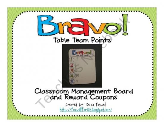 Bravo Board and Reward Coupons (Classroom Management System) product from Foxwell-Forest on TeachersNotebook.com