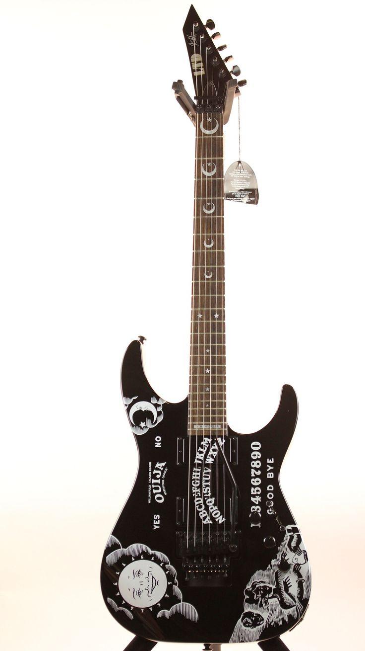 ESP LTD Kirk Hammett Ouija Black Electric Guitar