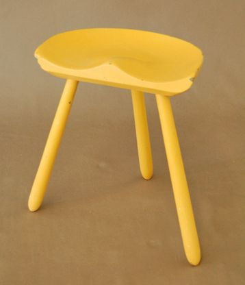 A Painted Country Danish Milking Stool, Circa 1950 Design Ideas