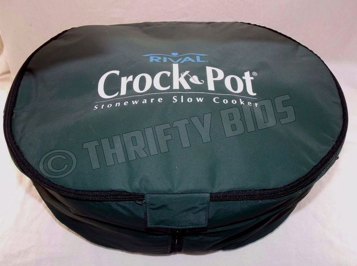 Genuine Rival CrockPot Insulated Travel Bag Case for 6Qt Oval Slow Cooker Green  #Rival