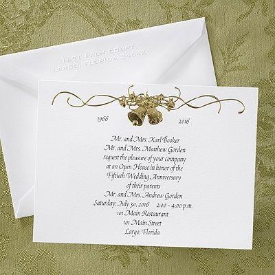 110 best anniversary invitation cards images on pinterest golden bells anniversary invitation weddingneedsrlsoncraft stopboris Gallery