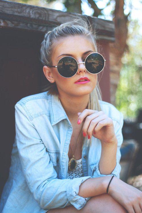 round sunglasses | summer style