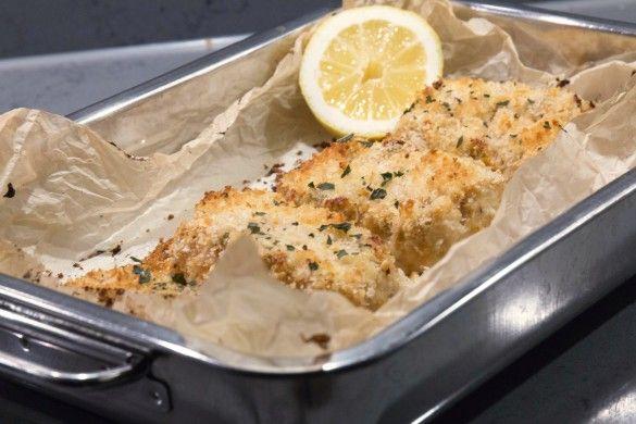 pankogratinerad torsk med parmesan, citron och örter - RECEPT   Uplifting – allt om god mat – recept, tips, restauranger, dryck