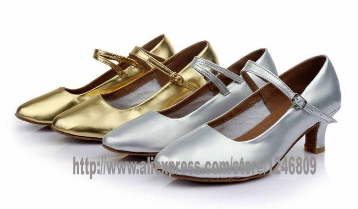 Новое поступление оптовая продажа новое женщин современный бальный зал латинской танго обувь на каблуках сальса серебро золотой цвет WZSP18