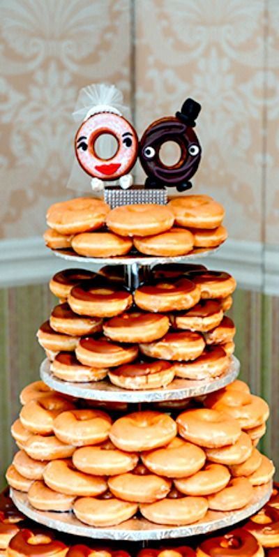 Donut Tower Wedding Cake: