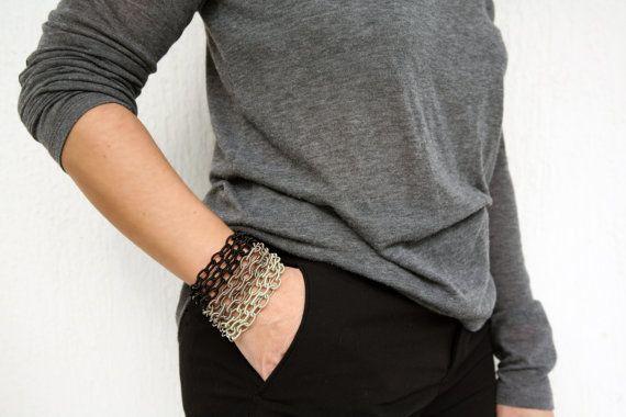 MULTI COLOURED CHAIN, satin, bracelet, multi layers, fashionable