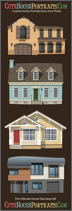 Cute House Portraits can be the ultimate house warming gift for new home owners. Framed custom portraits of new (or old) homes will be sure to find a special place in the family home.