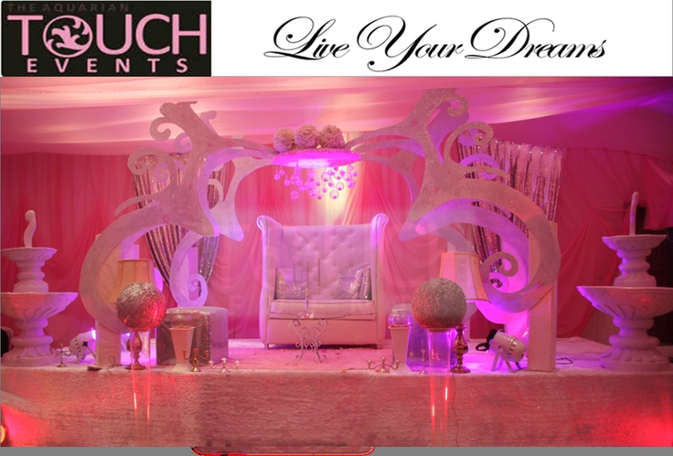 Fairy tale themed wedding stage  http://www.facebook.com/aquariantouchevents/photos_albums