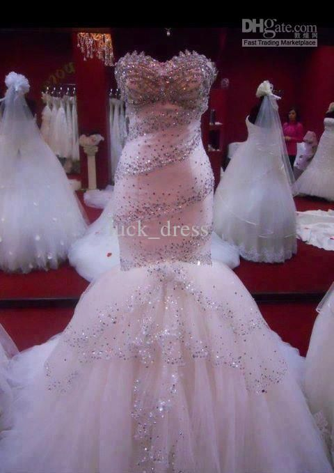 Crystal beaded wedding dresses google search my for Blinged out wedding dress