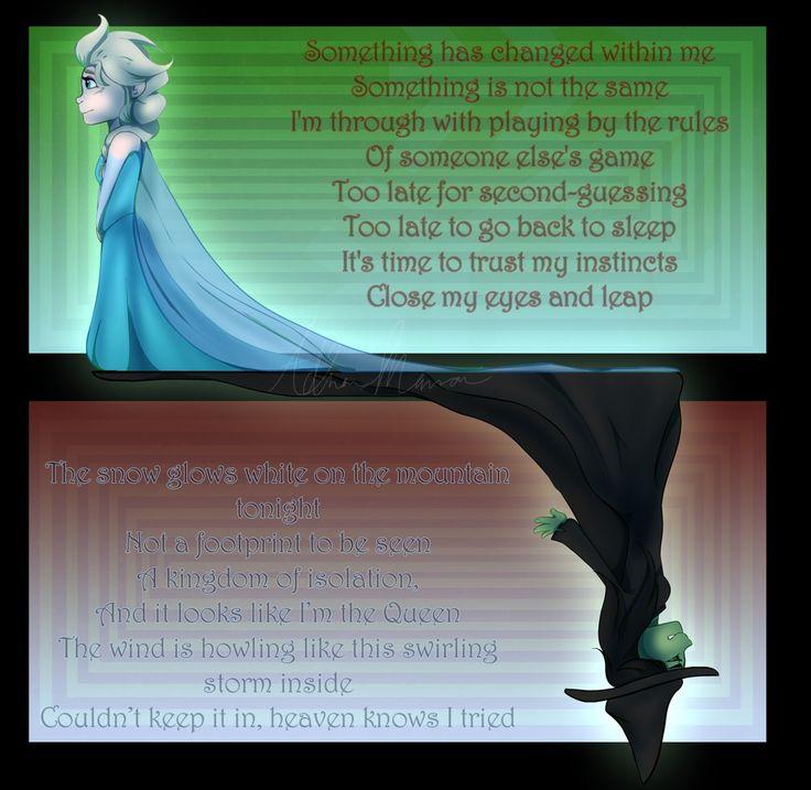 Frozen vs Wicked... Basically Idina Minzel is awesome.
