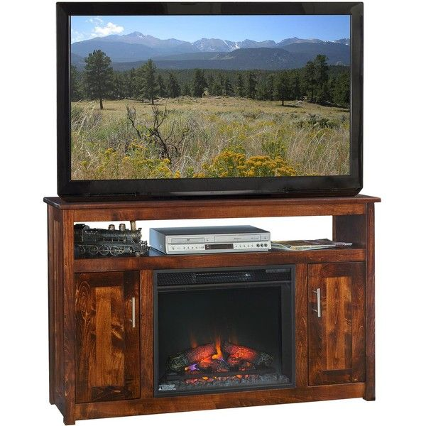 """Amish Finsbury Park 51"""" Electric Fireplace TV Stand ..."""