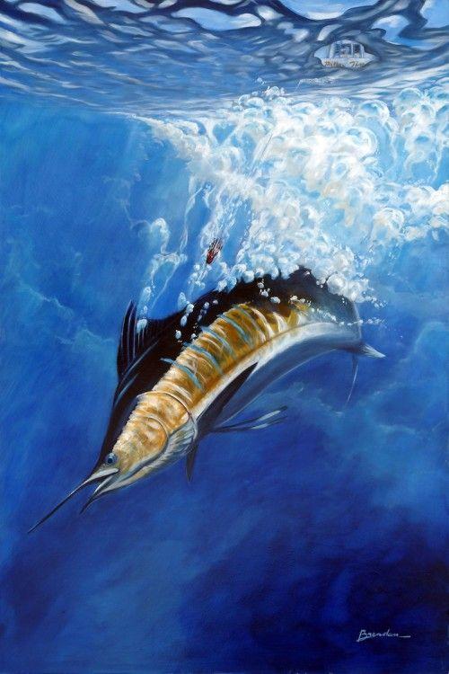 45 best guy harvey art images on pinterest ocean art for Fish safe paint