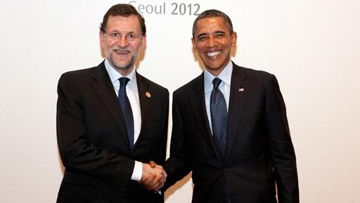 Barack Obama y Rajoy #españa #spain #usa