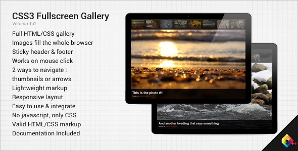 CSS3 Fullscreen Gallery