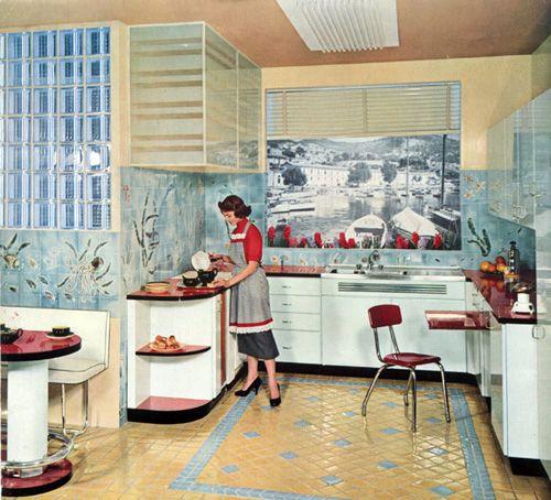 Les 35 meilleures images du tableau cuisine avec bar sur for Meuble cuisine 1950