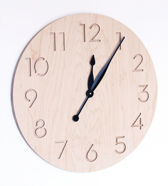 extra large modern wall clock by uncommon on Etsy, $170.00