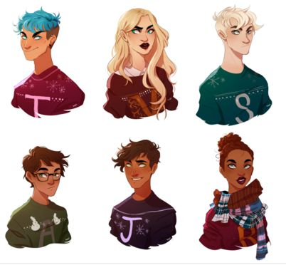 Teddy, Victoire, Scorpius, Albus, James and Rose