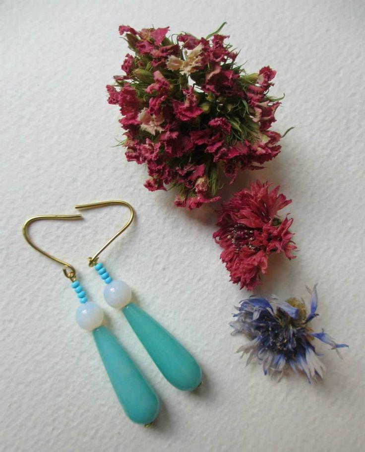 Giada earrings/Orecchini fatti con la pietra Giada  #earrings #fashion #colorful #handmade #bohemianjewelry