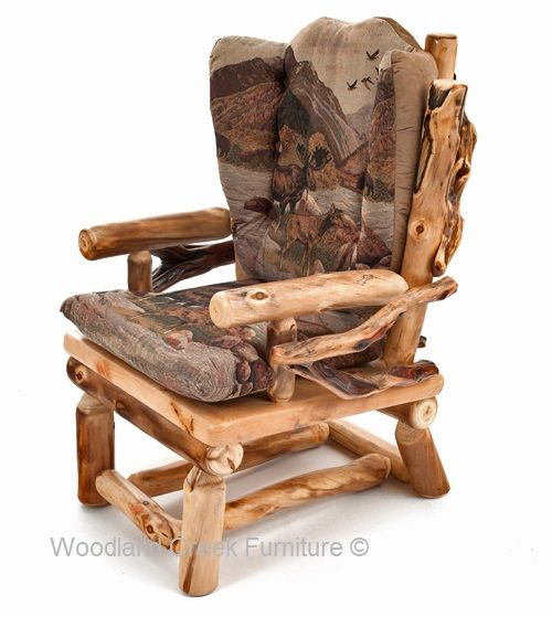 Rustic Log Chair by Woodland Creek Furniture