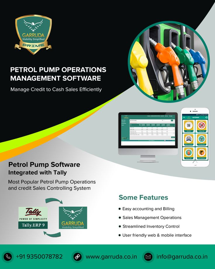 Petrol Pump Software Integrated With Tally Operations Management Petrol Pos