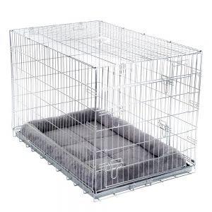 Cage de transport Double Door avec coussin pour chien