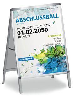 Abschlussball Poster jetzt kostenlos online gestalten. #poster #plakat #abschlussball #abiturball #abiball #design #posterdesign #plakatdesign #onlinedruckerei #druckerei