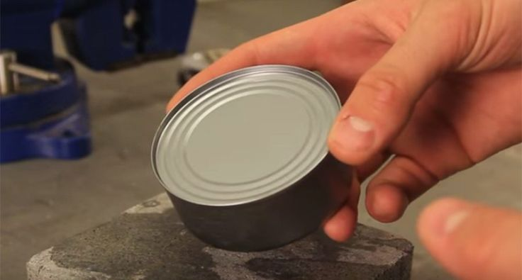 This viral video will show you the super easy way to open a can without a can opener.