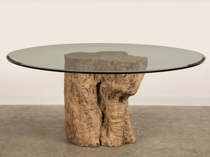 Superb Awesome Teak Tree Trunk Table With Circled Glass Top As Inspiring Cocktail Table  Ideas With Natural Trees In White Living Room Furniture Decors Great Pictures