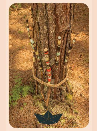Tribal deco wood sticks