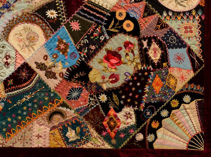 This extraordinary Victorian Crazy Quilt has the most ...