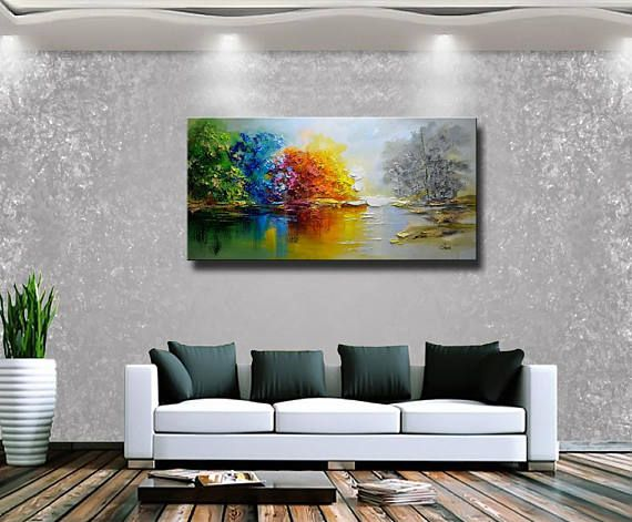 Original Abstract Painting Modern Textured Painting Impasto