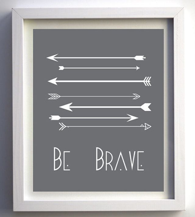 """Be Brave"" Nursery Wall Art with Arrows - #nursery #wallart #artprintWall Art, Brave Prints, Art Arrows, Arrows Prints, Arrows Wall, Arrows Nurseries, Be Brave, Boys Room, Arrows Art"