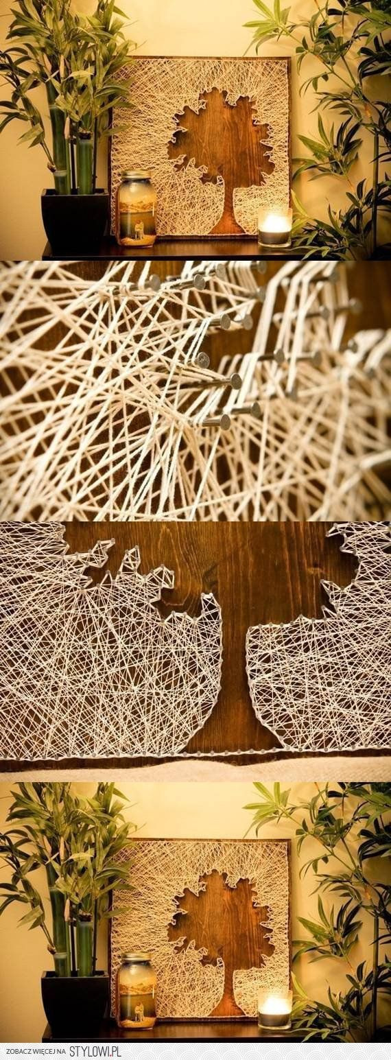 I think string art is so cool. I'd love to do this.