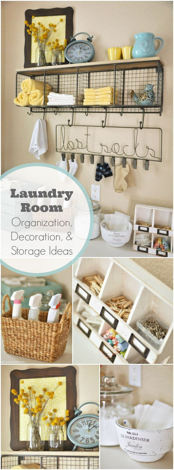 Laundry Room Organization and Storage Ideas - Super cute and creative ideas to spruce up your laundry space!
