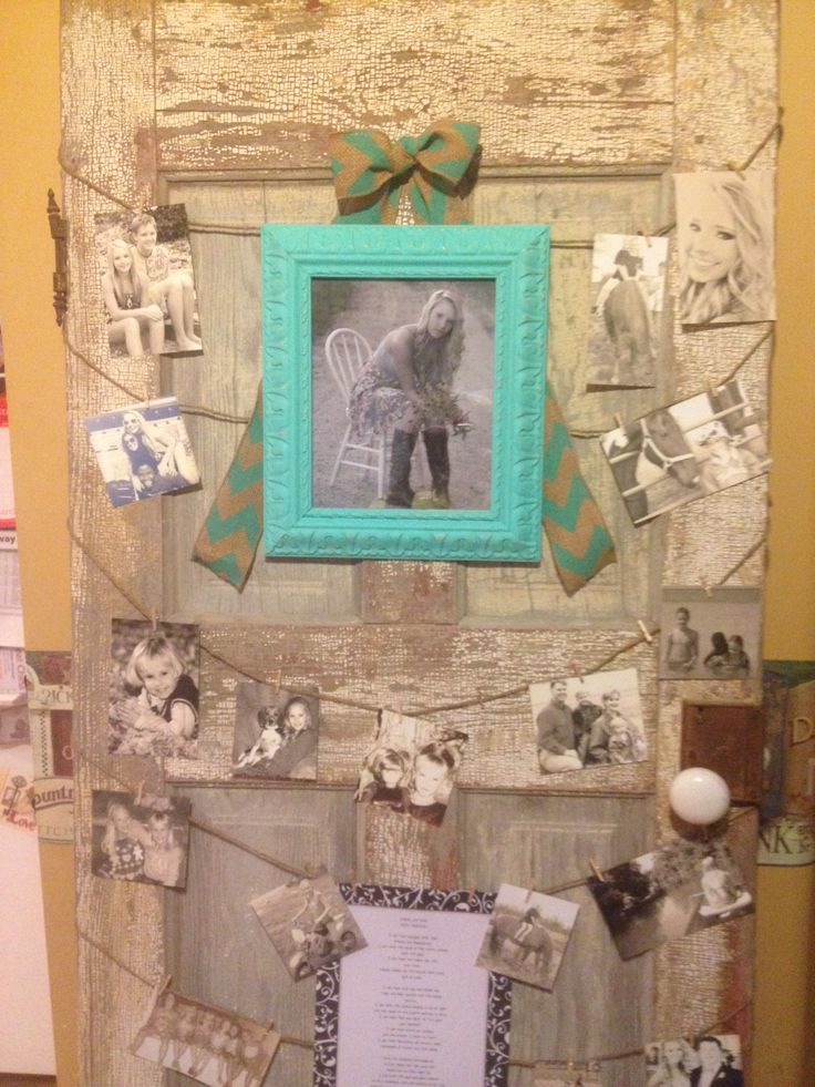 Old door used for vintage themed graduation party.