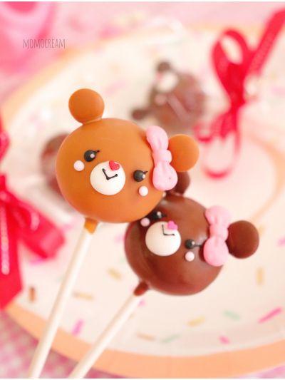 「たこ焼き機でまんまる♡くまちゃんケーキポップ」momocream+あゆち | お菓子・パンのレシピや作り方【cotta*コッタ】