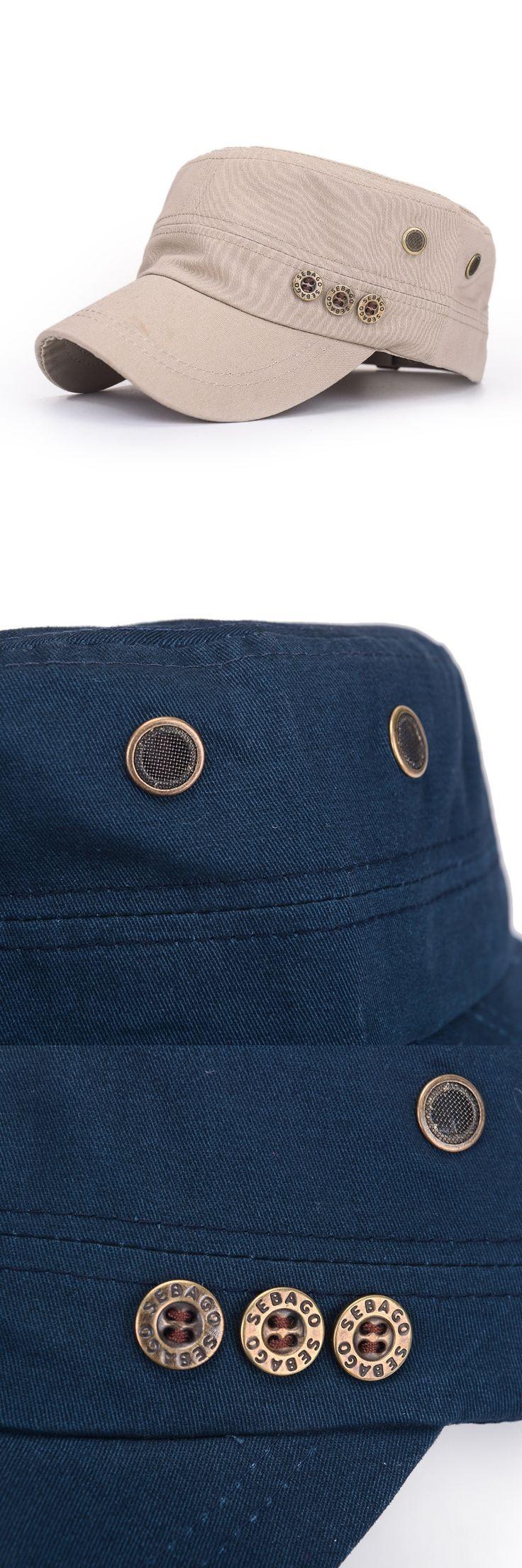 The New Korean Men and Women Flatcap Spring Fashion Buttons COTTON HAT Taobao Hot Cap Peaked Cap