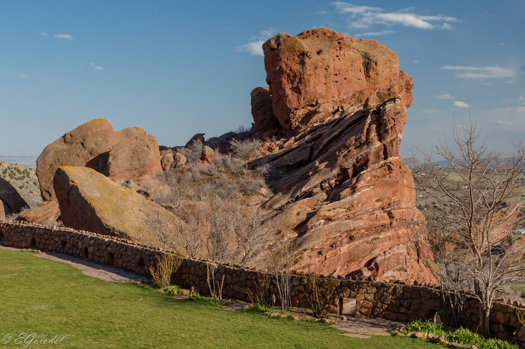 Ship Rock in Red Rocks Park, near Denver in Colorado.