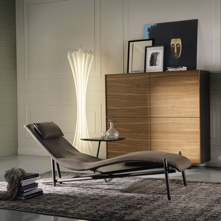 Donovan Cattelan Italia Design Giuseppe Vigan 2014 Feature Steel Structure Visible Inviting Upholstery Refined The Coating Chaise Longue Signed