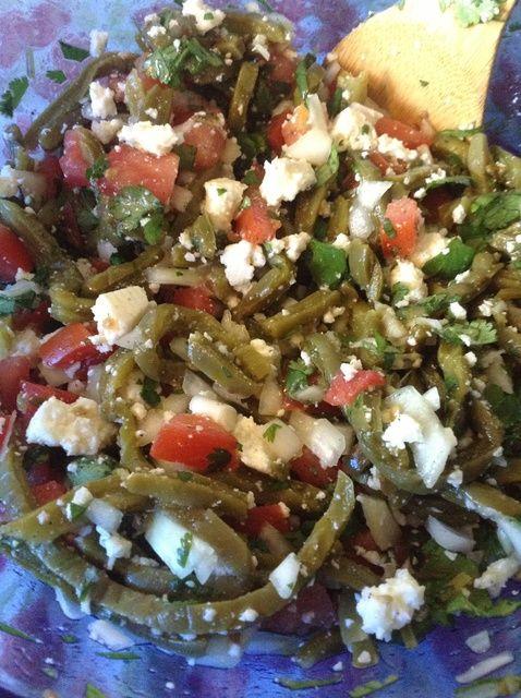 How to Prepare Delicious Nopales (Cactus) Salad Recipe