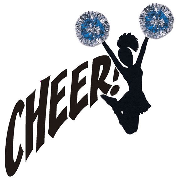 Free Cheer Clipart Image - 12804, Cheerleading Silhouette Clip Art ...