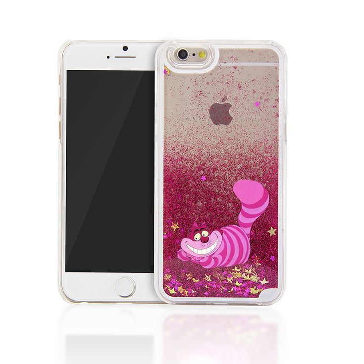 For iPhone 5S 5 Alice in Wonderland Cheshire Cat Back Cover Case For iphone 6 6S 6 PLUS 6S PLUS 7 7 PLUS 5C 4 4S Glitter Cases