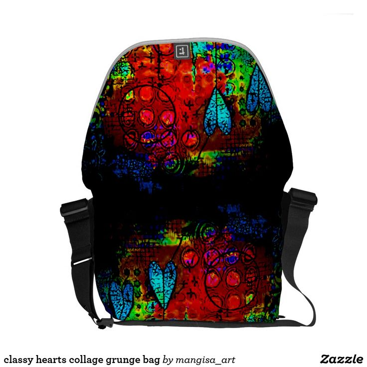 classy hearts collage grunge bag